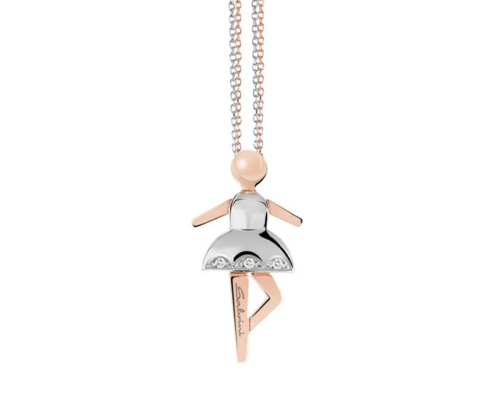Salvini - Necklace in white gold, pink gold and diamonds