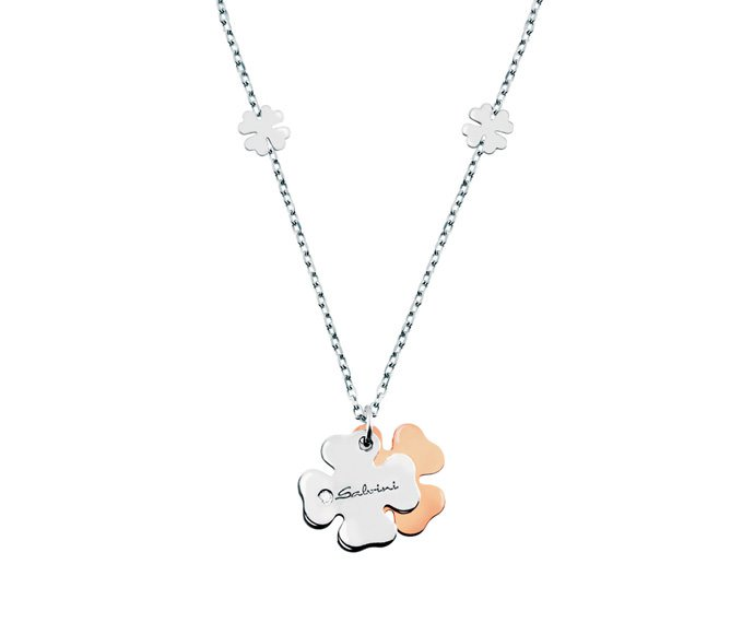 Salvini - Necklace in white gold and pink gold 9 KT and diamond