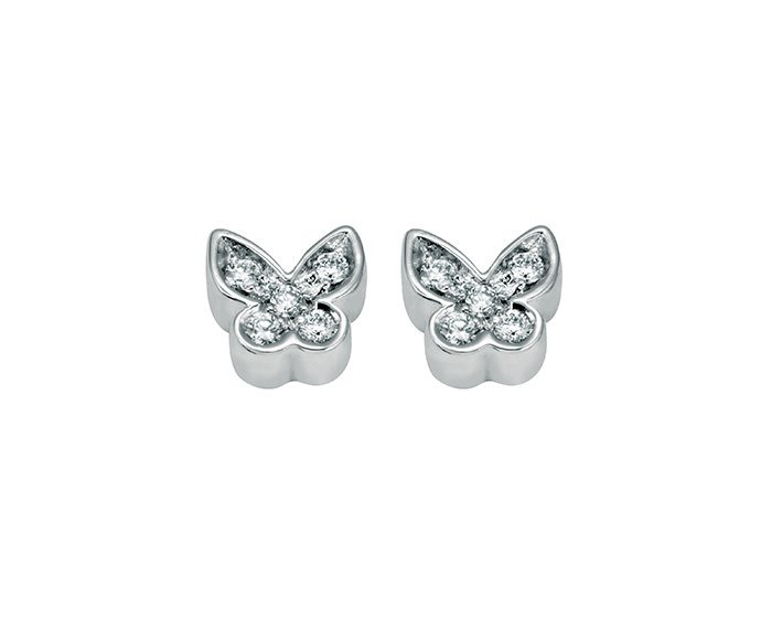 SALVINI - Earrings in white gold 9 KT and diamonds