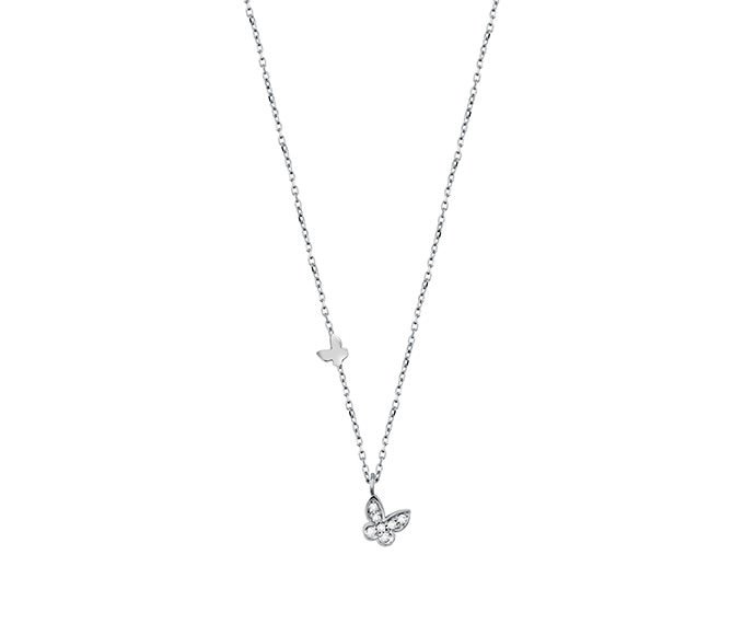 SALVINI - Necklace in white gold 9 KT and diamonds