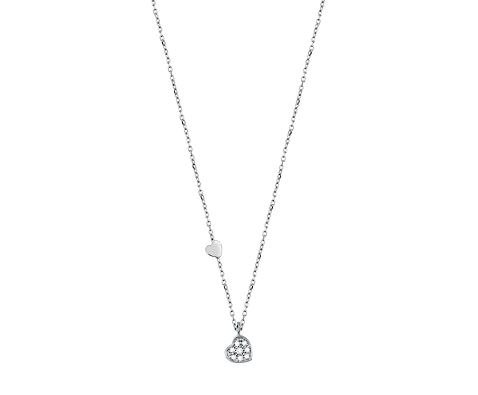 SALVINI - Necklace heart in white gold with diamonds