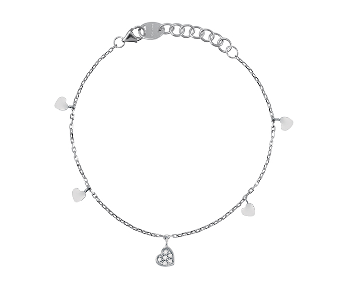 SALVINI - Bracelet heart in white gold with diamonds