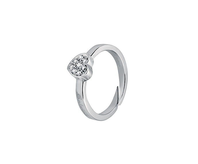 SALVINI - Ring heart in white gold with diamonds