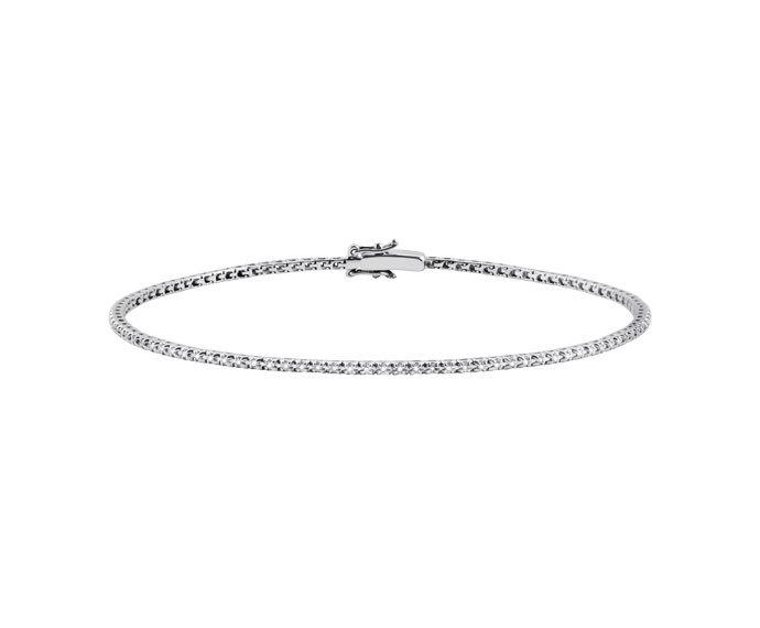SALVINI - Bracelet tennis in white gold and diamonds