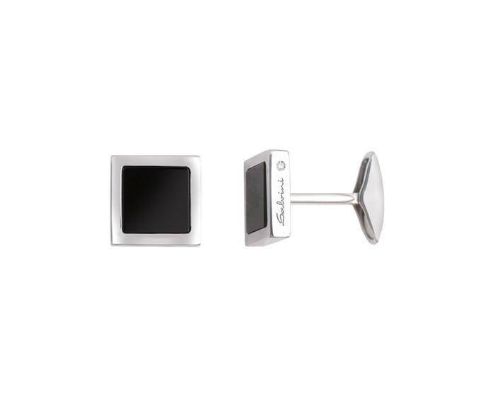 SALVINI - Cufflinks in silver and onyx