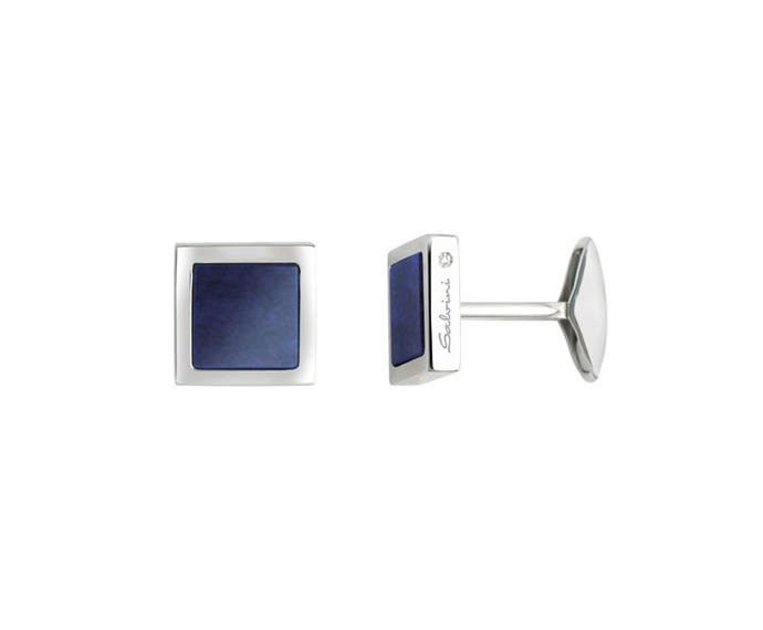 SALVINI - Cufflinks in silver and lapis