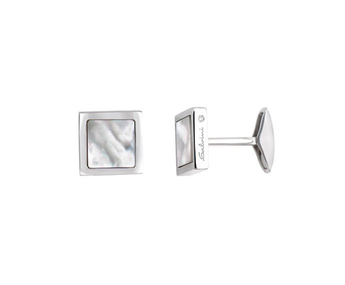SALVINI - Cufflinks in silver and mother-of-pearl