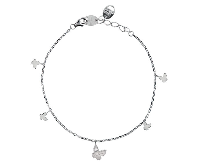 SALVINI - Bracelet butterfly in white gold with diamond