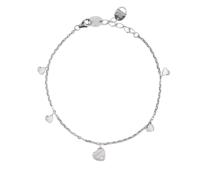 SALVINI - Bracelet heart in white gold with diamond