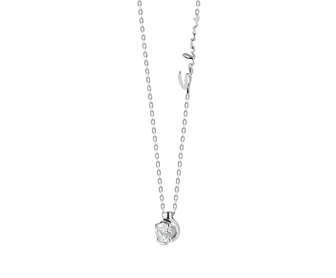 - Collier in white gold and diamonds