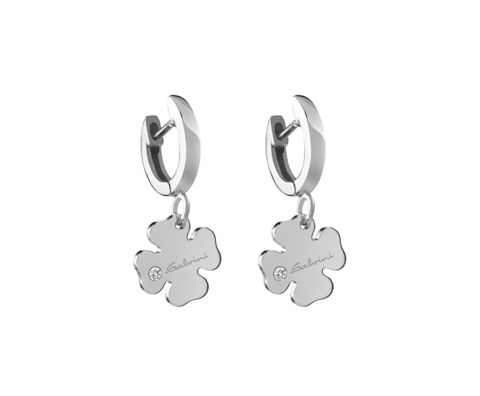 Salvini - Earrings four-leaf clover in white gold 9 KT