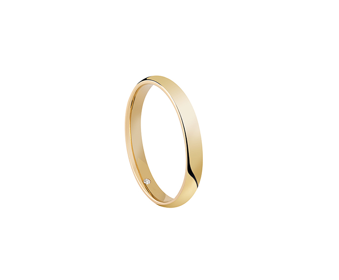 SALVINI - Wedding ring in yellow gold with diamond