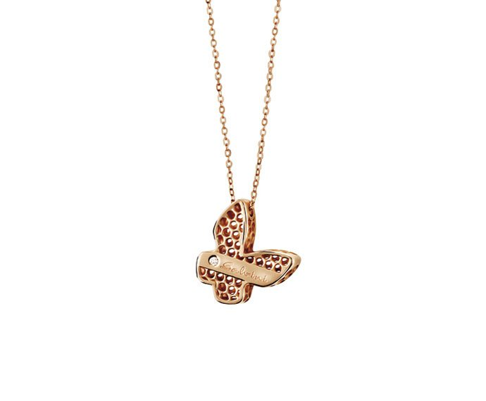Salvini - Necklace butterfly in pink gold 9 KT