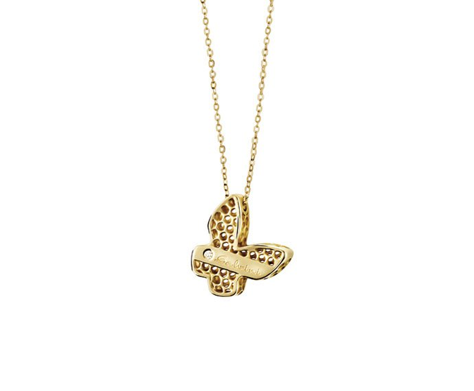 SALVINI - Necklace butterfly in yellow gold 9 KT