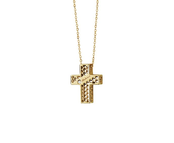 Salvini - Necklace cross in yellow gold 9 KT
