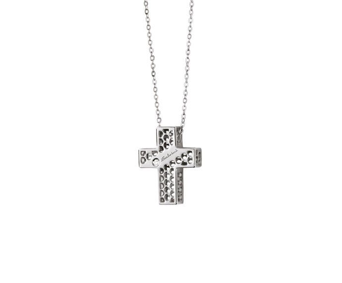 Salvini - Necklace cross in white gold 9 KT