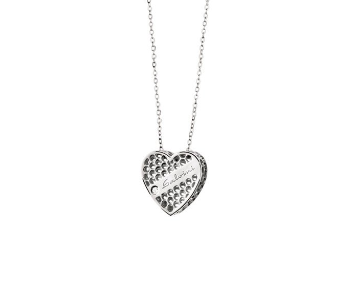SALVINI - Necklace heart in white gold 9 KT