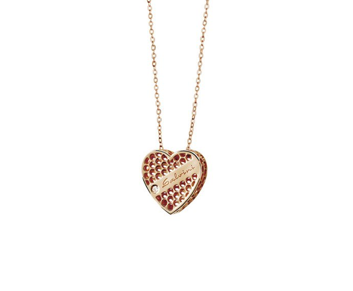 SALVINI - Necklace heart in pink gold 9 KT