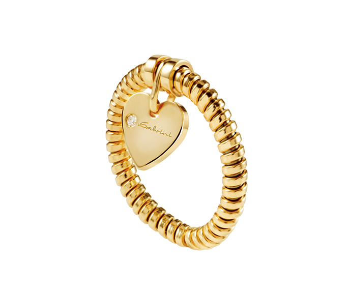 SALVINI - Ring heart in yellow gold and diamond