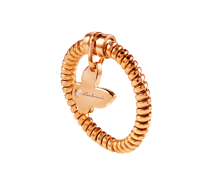 SALVINI - Ring in pink gold and diamond