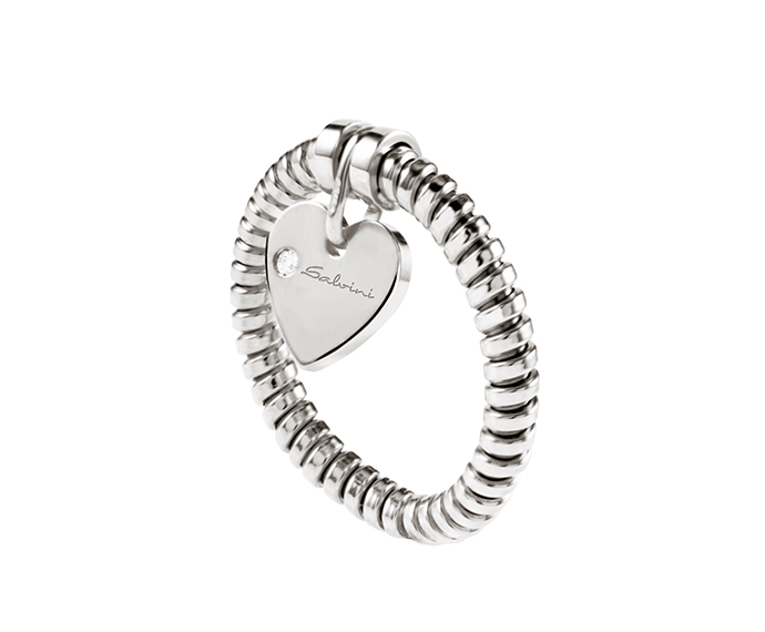 SALVINI - Ring heart in white gold and diamond