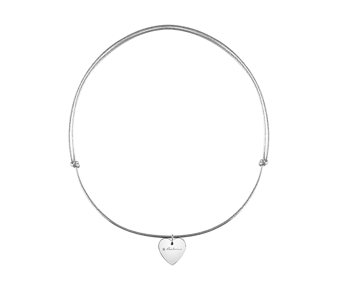 SALVINI - Necklace heart in white gold and diamond