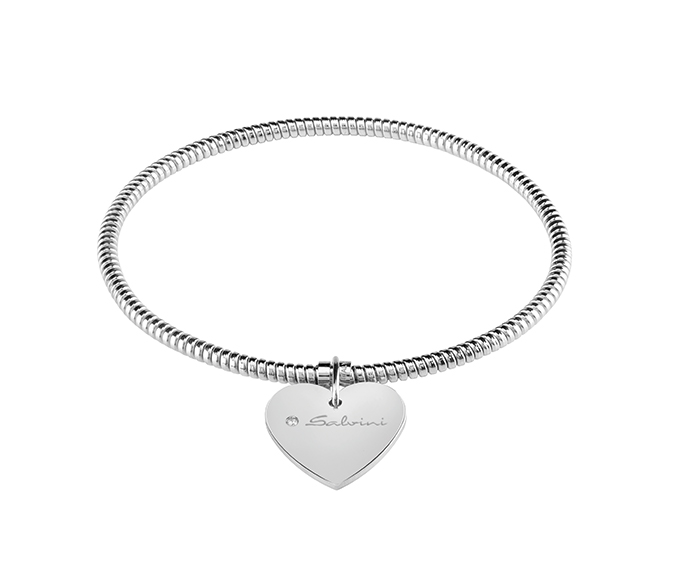 SALVINI - Bracelet heart in white gold and diamond