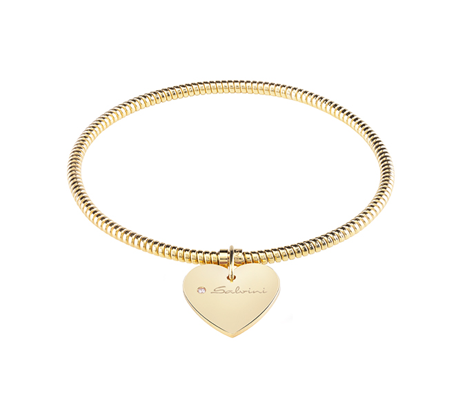 SALVINI - Bracelet heart in yellow gold and diamond