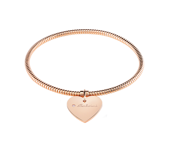 SALVINI - Bracelet heart in pink gold and diamond
