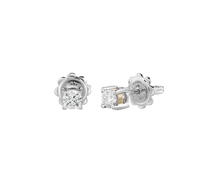 SALVINI - Earrings in white and pink gold with diamonds