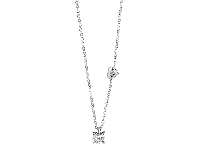 SALVINI - Necklace in white and pink gold with diamonds