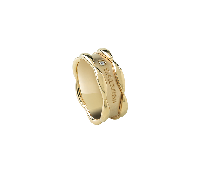 SALVINI - Yellow gold ring with diamonds