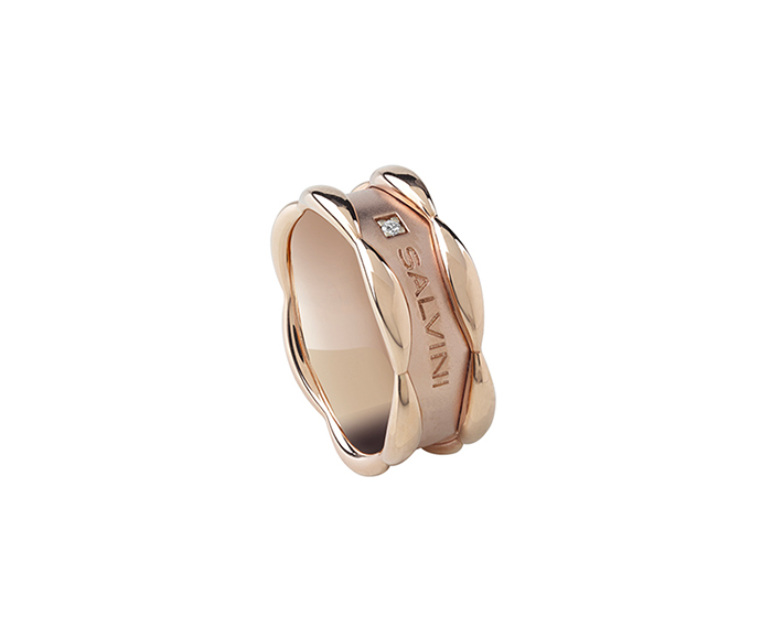 SALVINI - Pink gold and diamond ring