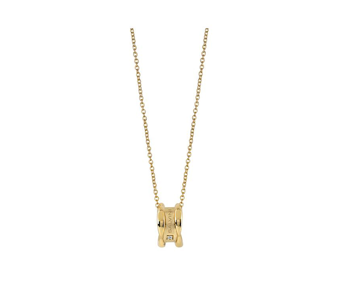 SALVINI - Yellow gold necklace with diamonds