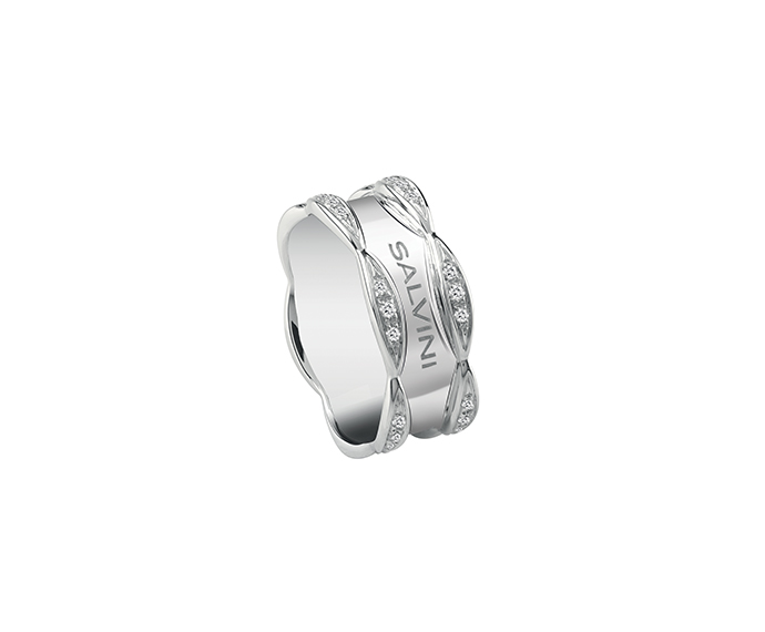 SALVINI - White gold ring with diamonds