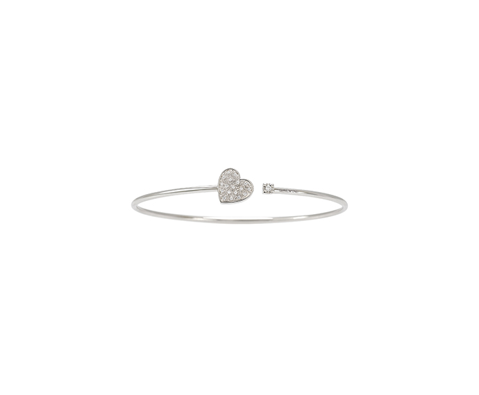SALVINI - White gold bracelet with diamonds. Heart size: Width 9,70mm. Length 9,50. Thickness 2,95mm.