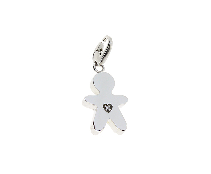 SALVINI - Silver charm with diamonds