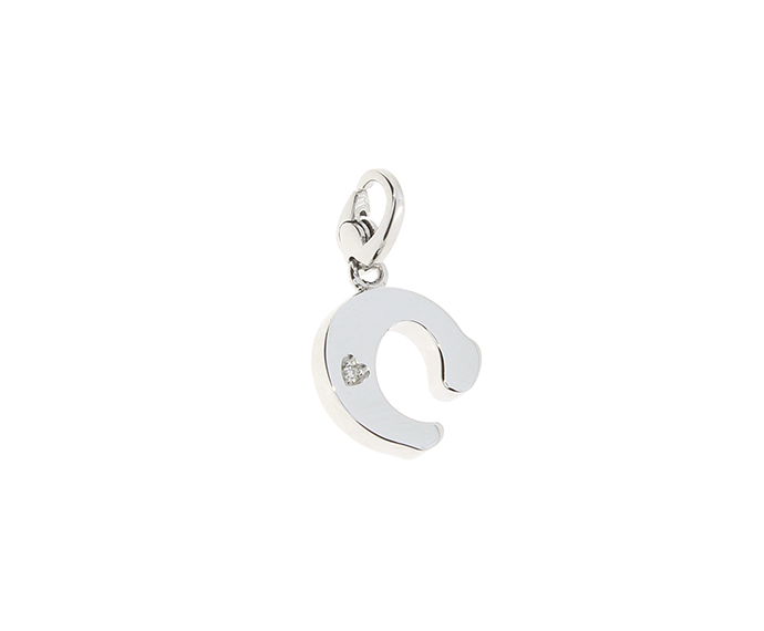 SALVINI - Silver charm with diamonds, Letter C