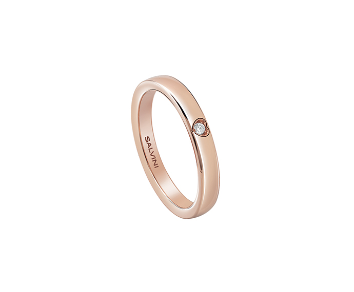 SALVINI - Pink gold wedding ring