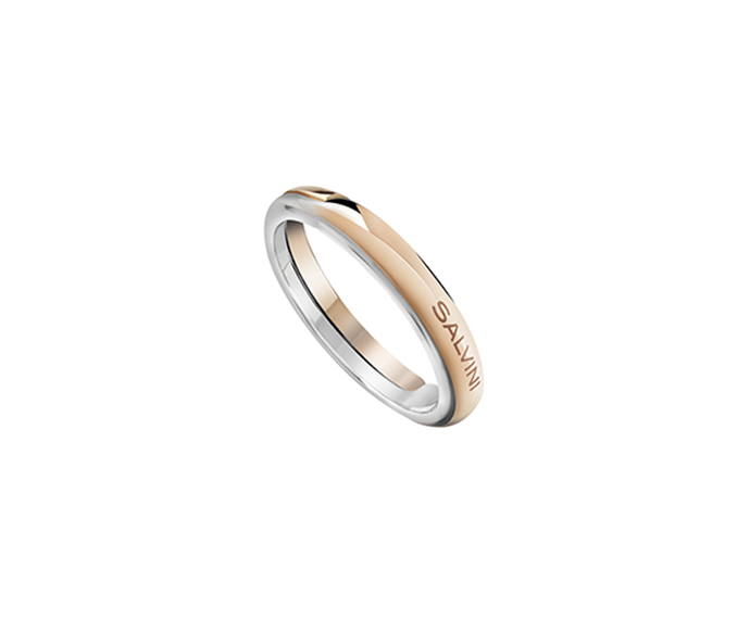 SALVINI - White gold and pink gold wedding ring