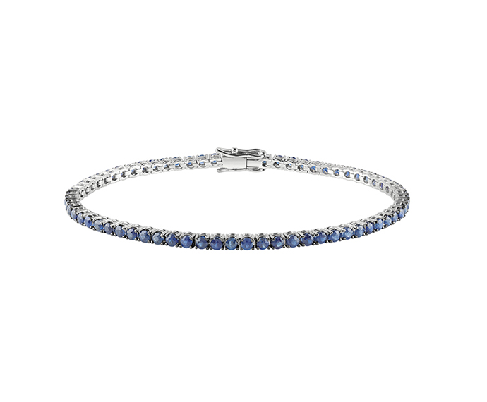 SALVINI - Tennis bracelet in white gold with sapphires