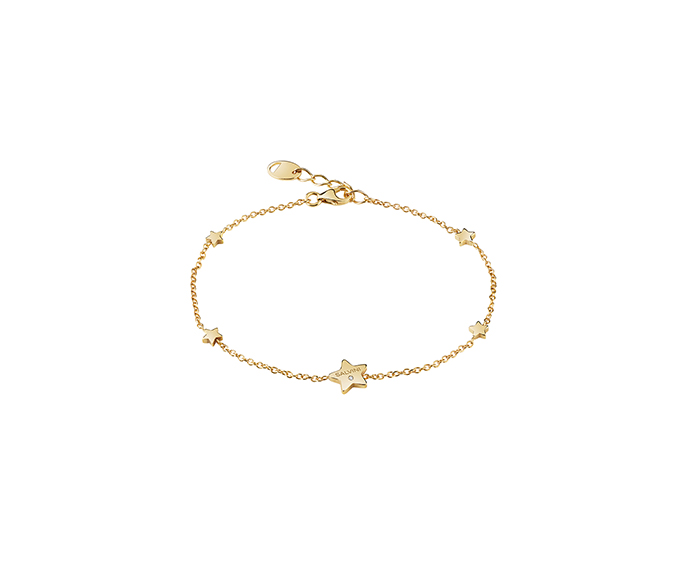 SALVINI - 9KT yellow gold bracelets with diamond. Star size: Width 7,80mm. Length 7,50. Thickness 1,40mm