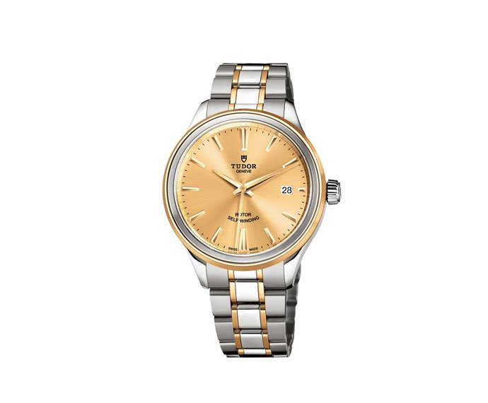 Tudor - Tudor Style 38 mm yellow gold, steel and diamonds