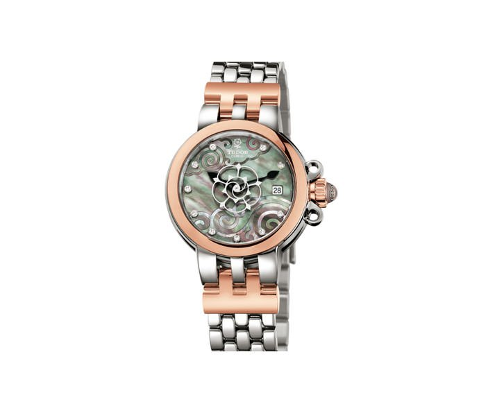TUDOR - Tudor Clair de Rose 26 mm steel, pink gold and diamonds