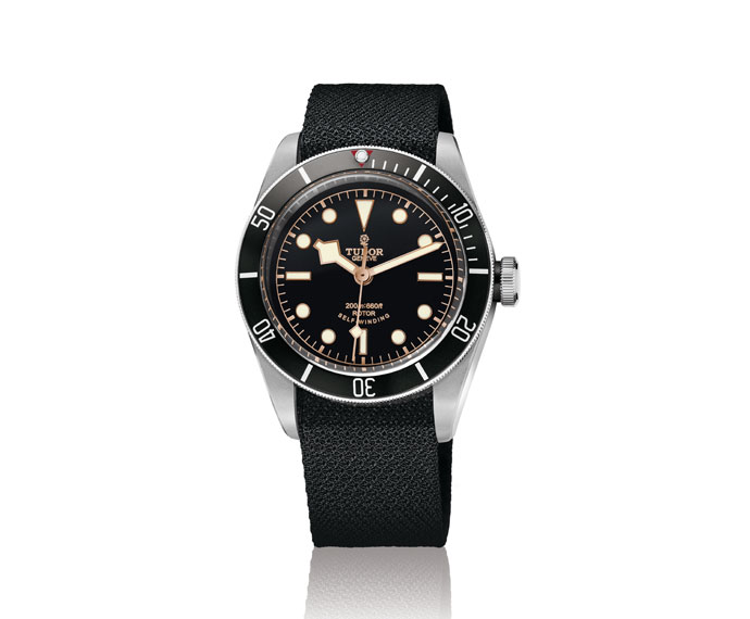 TUDOR - Tudor Heritage Black Bay Black bracelet in fabric