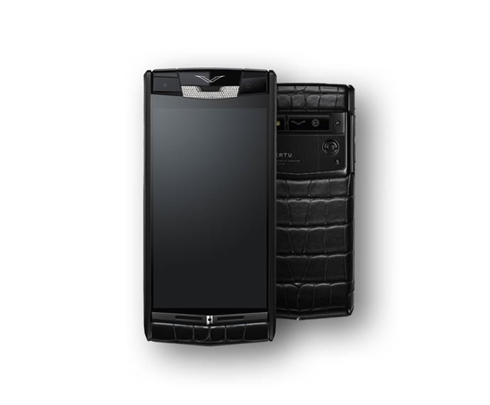 Vertu - Pure Jet Alligator Diamonds