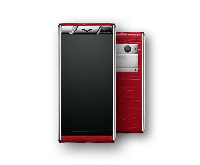 VERTU - Diamonds Red Alligator