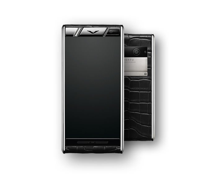 VERTU - Diamonds Black Alligator