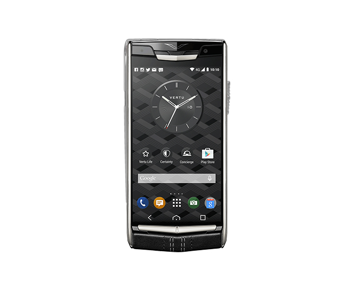 VERTU - Signature Polished Titanium Jet Leather